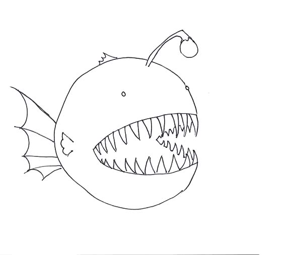 How To Draw Angler Fish Coloring Pages : Best Place to ...