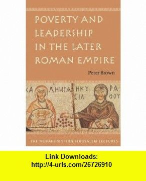 Poverty And Leadership In The Later Roman Empire Menahem Stern