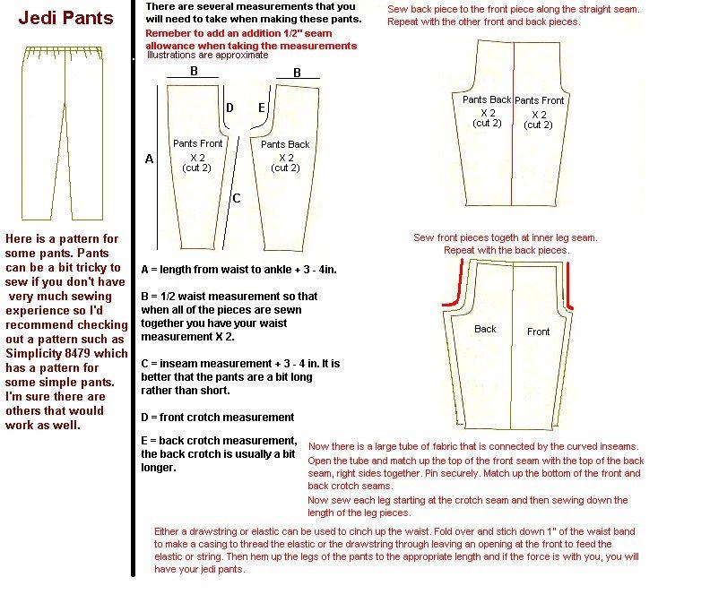 Karate Gi Pants Pattern | \