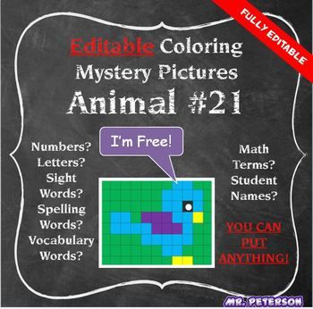 All Editable Mystery Pictures are in Microsoft Excel You must have