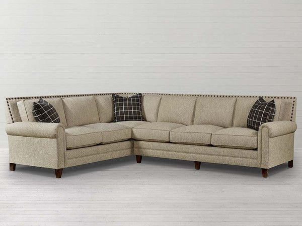 Bassett Furniture Harlan Sectional Sofa Is Available At Jacobs Upholstery.  Harlan Features Standard Blend Down