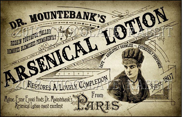 Victorian Vintage Label Ladies Arsenic Lotion Digital Download Etsy Vintage Labels Vintage Posters Vintage Advertisements