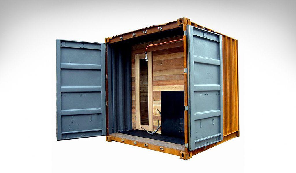 Sauna Box Дома из контейнеров, Дачный дом, Дом