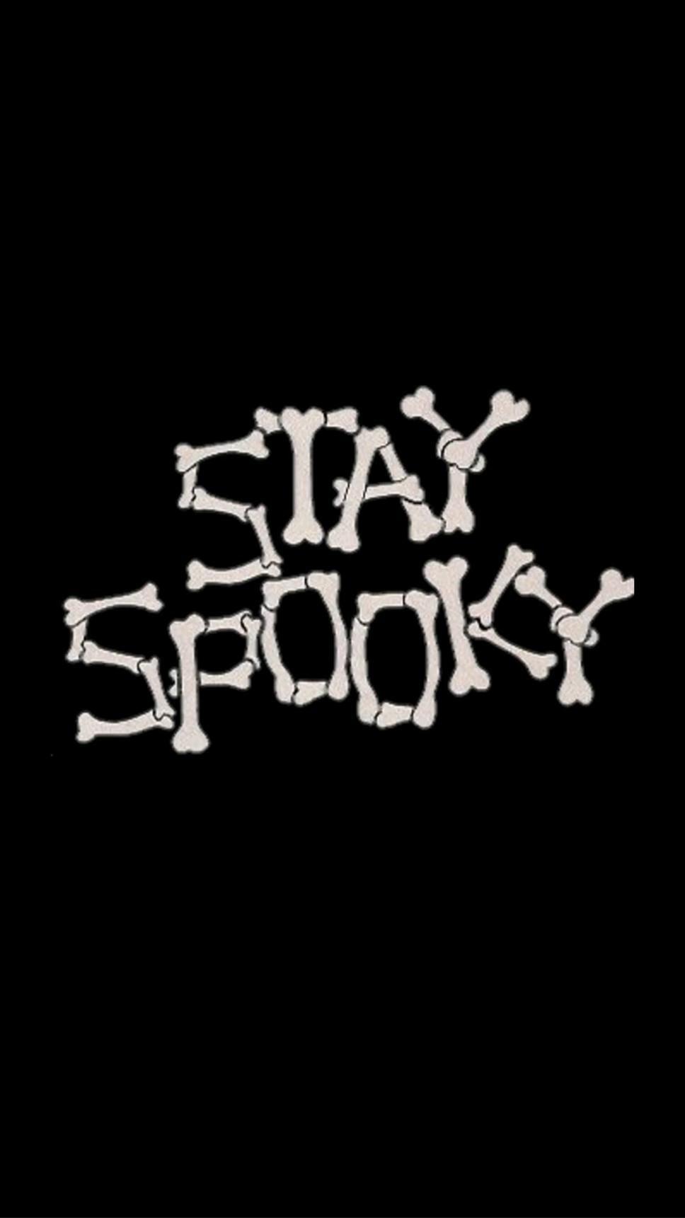 Stay Spooky halloween print. Halloween, spooky, witch, cute, funny, horror, vintage, skeleton.