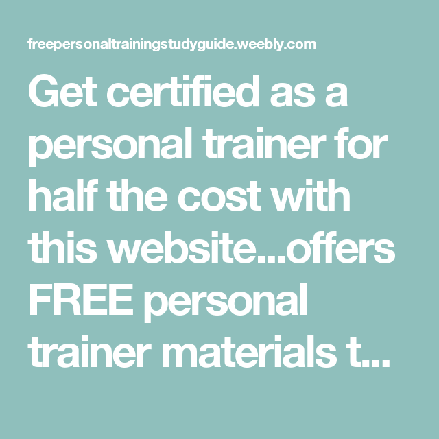 Get certified as a personal trainer for half the cost with this ...