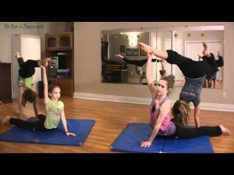2 Person Acro Tricks -Partner Handstand Stag | Dance ...