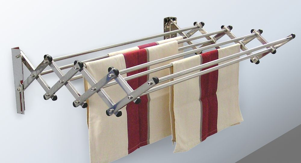 The Heavy Duty Wall Mounted Drying Rack Provides Over 21 Feet Of