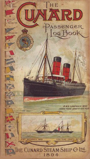 Cunard Line Passenger Log Book 1894