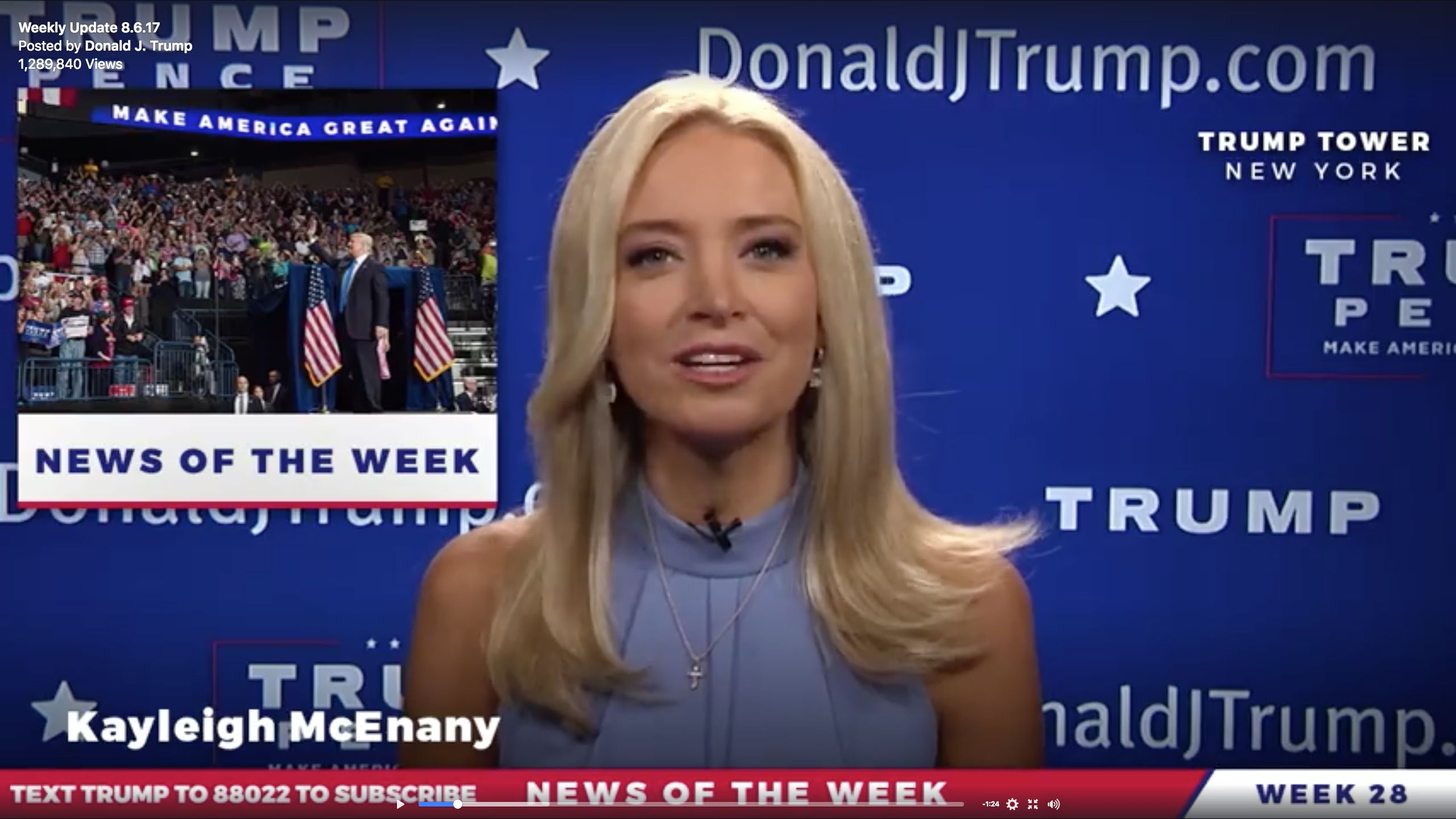Trump Launches Real News Service To Fight Negative Media Coverage Slipping Support Kayleigh Mcenany Trump Supporters Trump