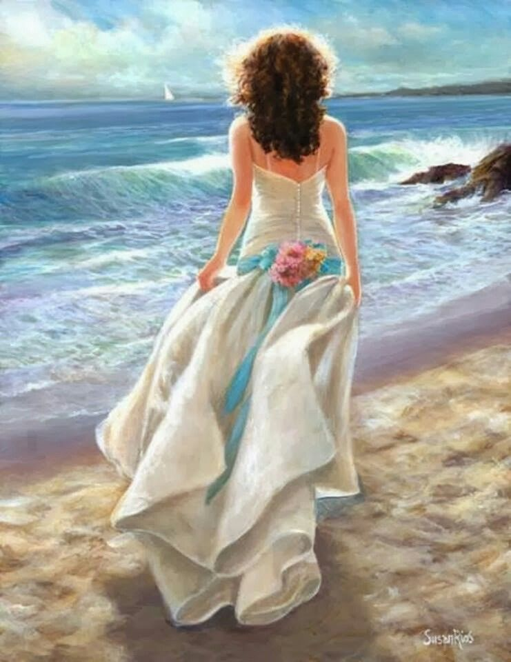 Beach Bride Art Art Gallery Woman Painting