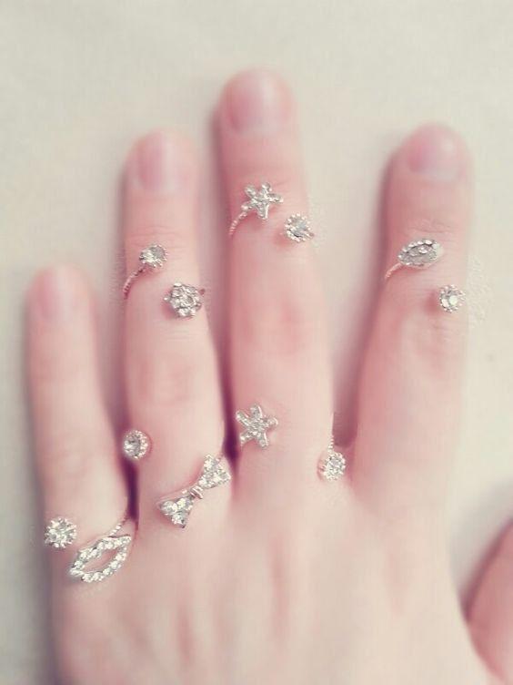 6 Rose Gold Rings Rose Gold Ring Set Boho Jewelry Midi Rings Gold
