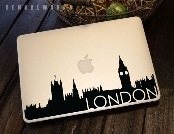 London skyline macbook decal 3 macbook sticker by bengalworks