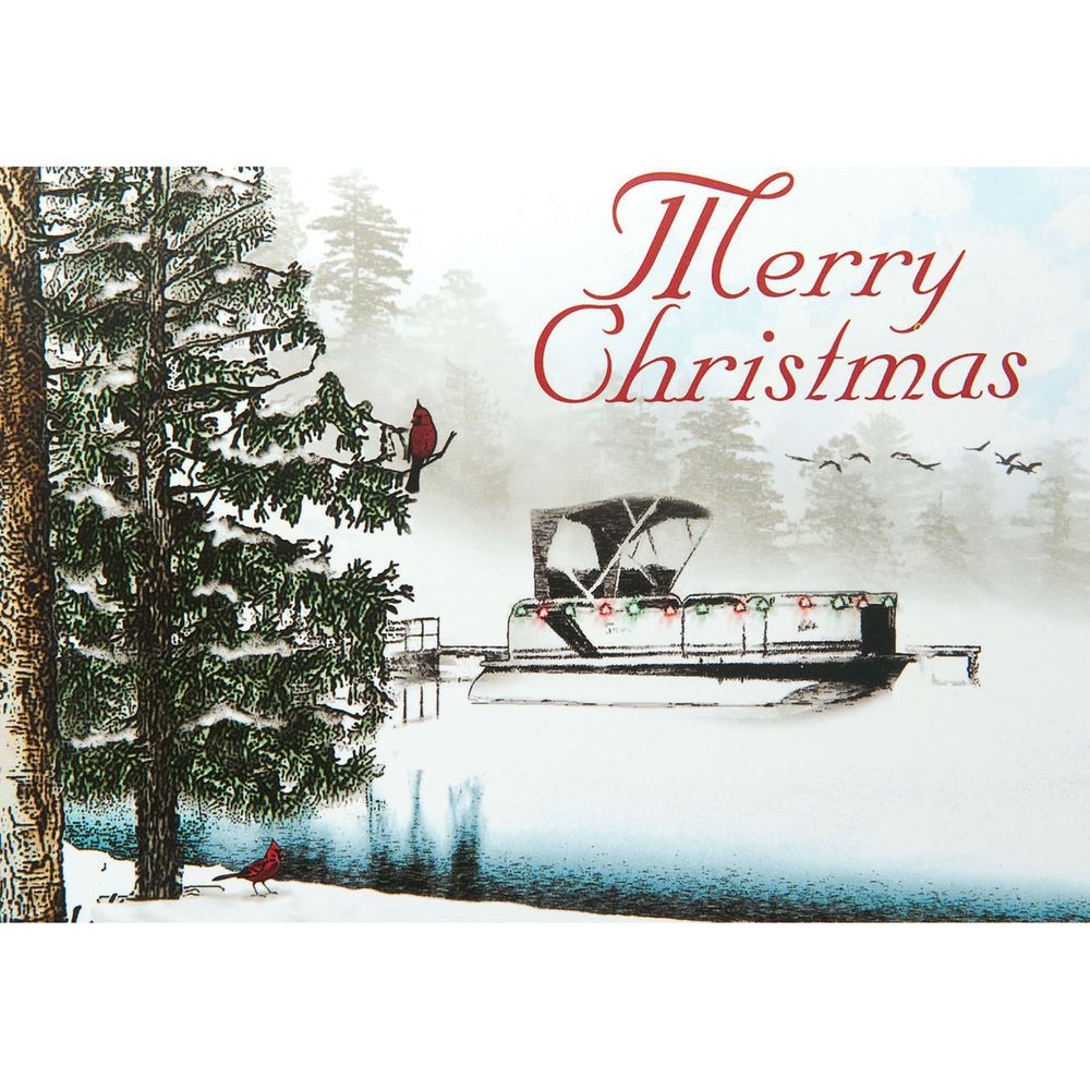 medium resolution of pontoon boat christmas cards