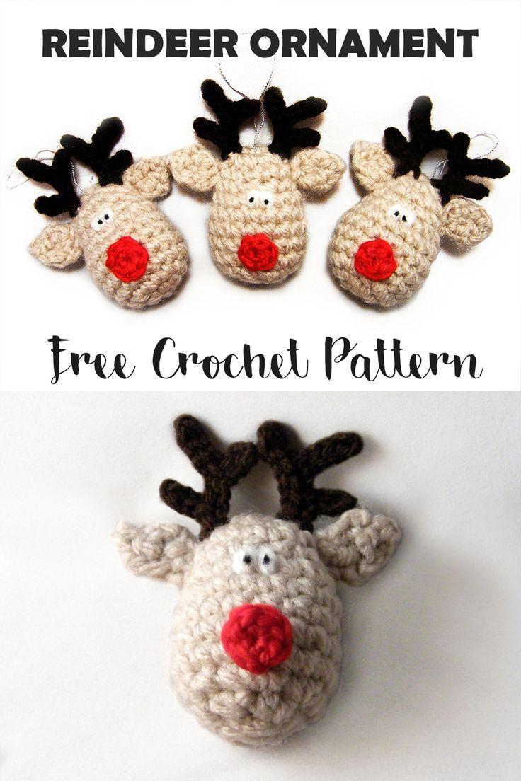 Reindeer Christmas Ornament Free Crochet Pattern | NAVIDAD ...