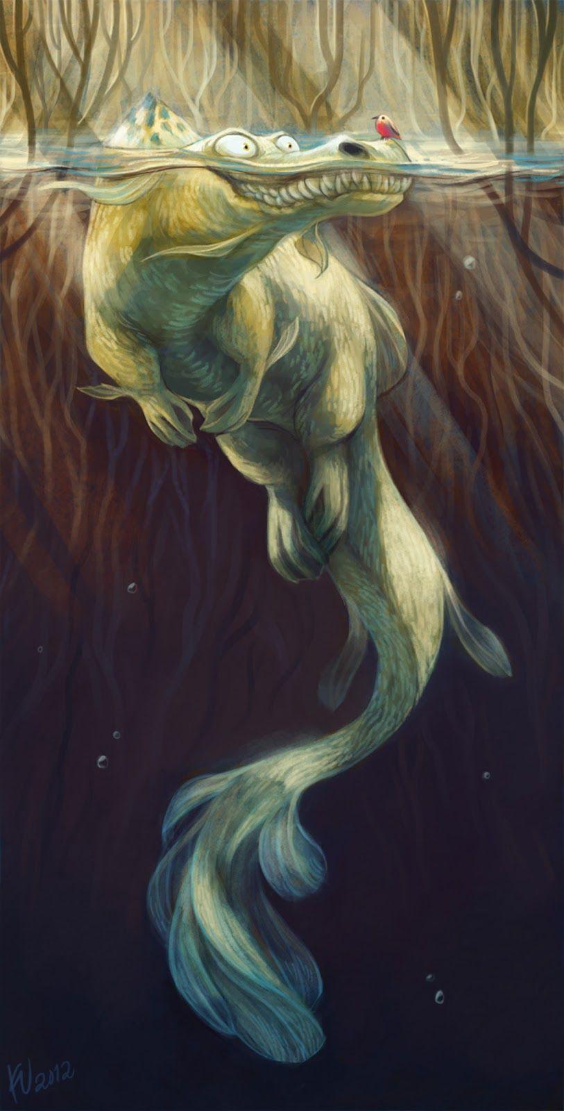 85. Gracioso monstruo marino | Bestiario | Pinterest | Monstruos ...