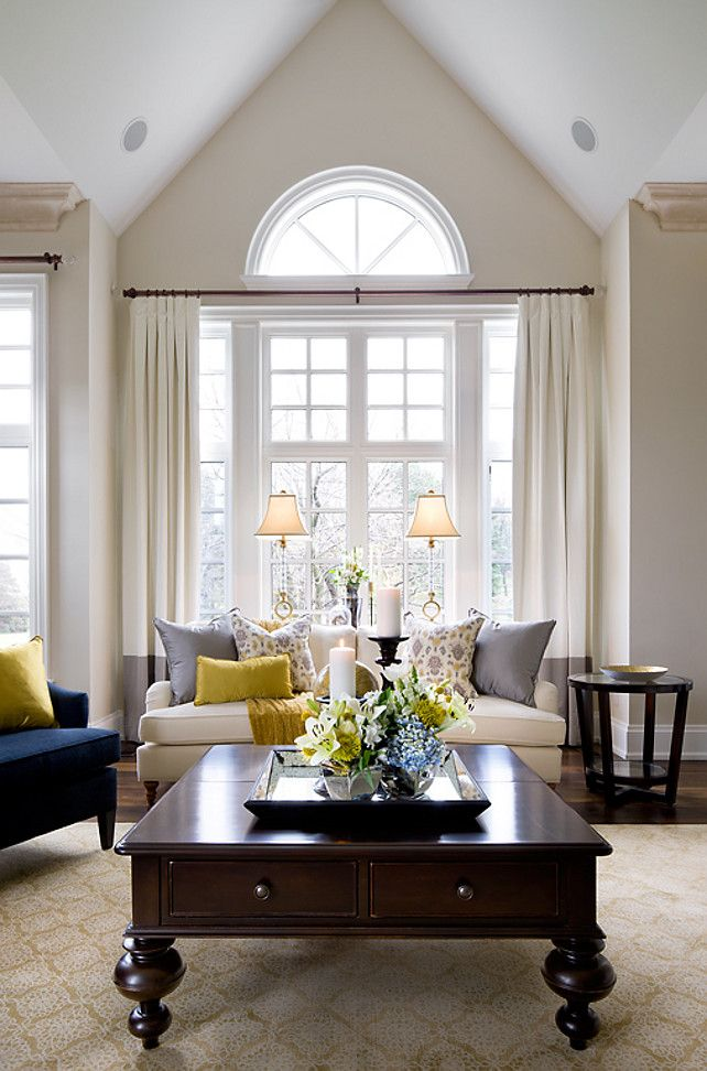"""Simply White Living Room Ideas: Ceiling Paint Color Is """"Benjamin Moore Simply White OC117"""