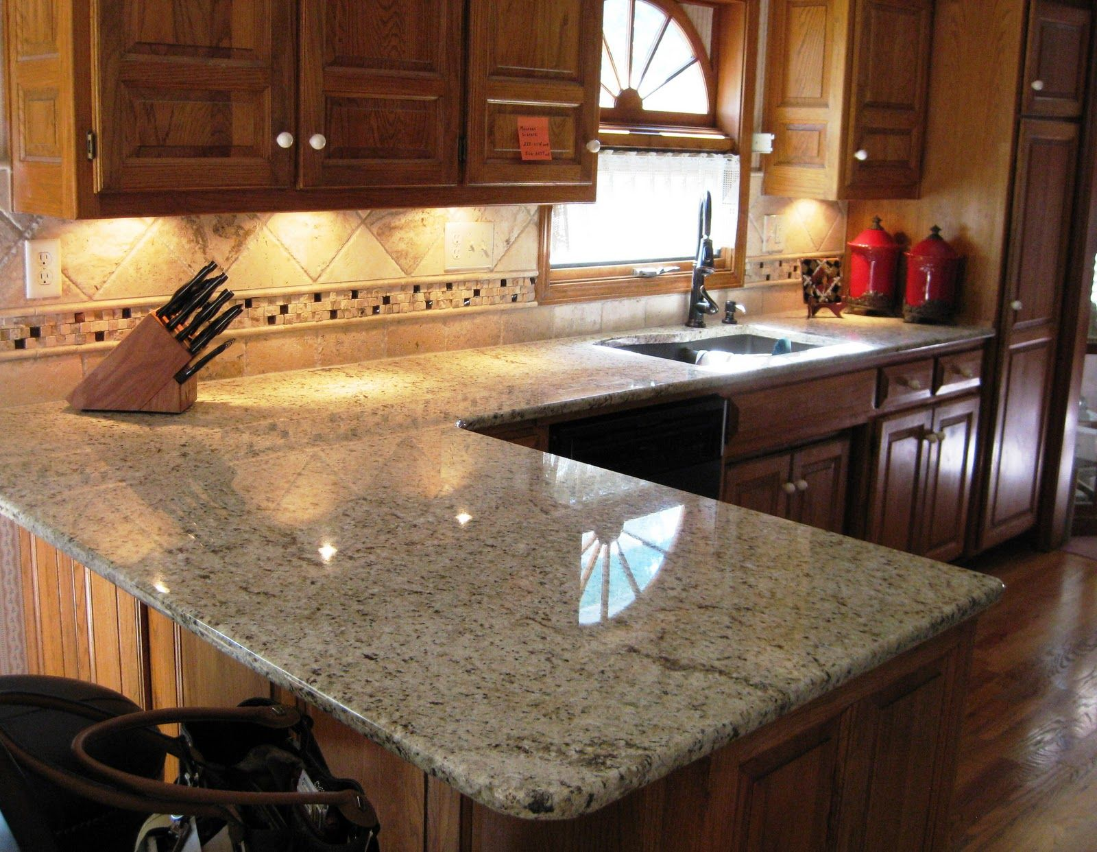 Giallo Ornamental Light Granite Granite Kitchen