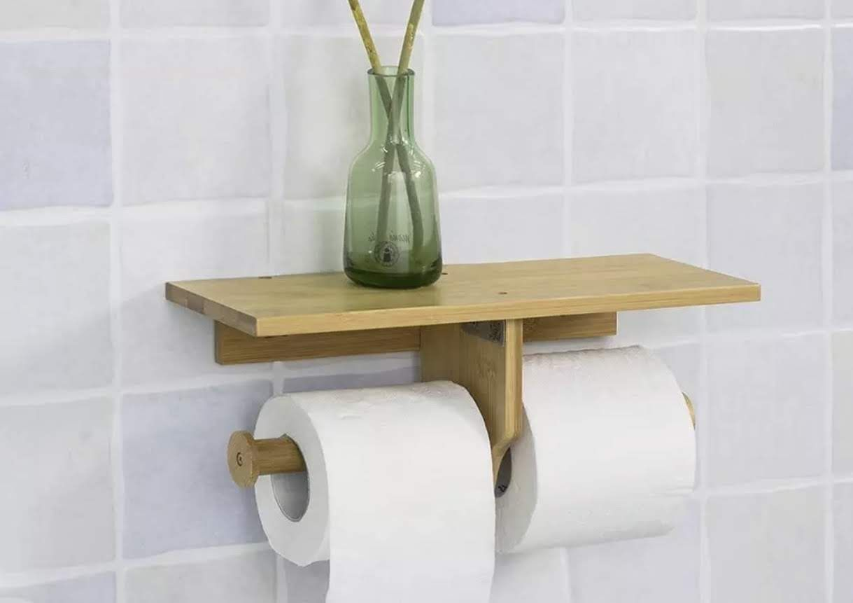 This Convenient And Decorative Dual Toilet Paper Holder Will Give