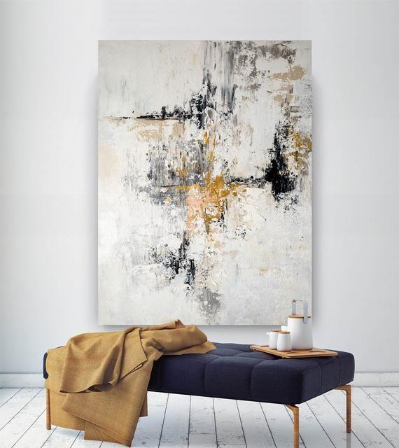 Read the full title Große moderne Wandkunst,Große abstrakte Wandkunst,Malerei für Zuhause,buntes Abstrakt,Schlafzimmer Wandkunst,Acryl strukturiert BNC029