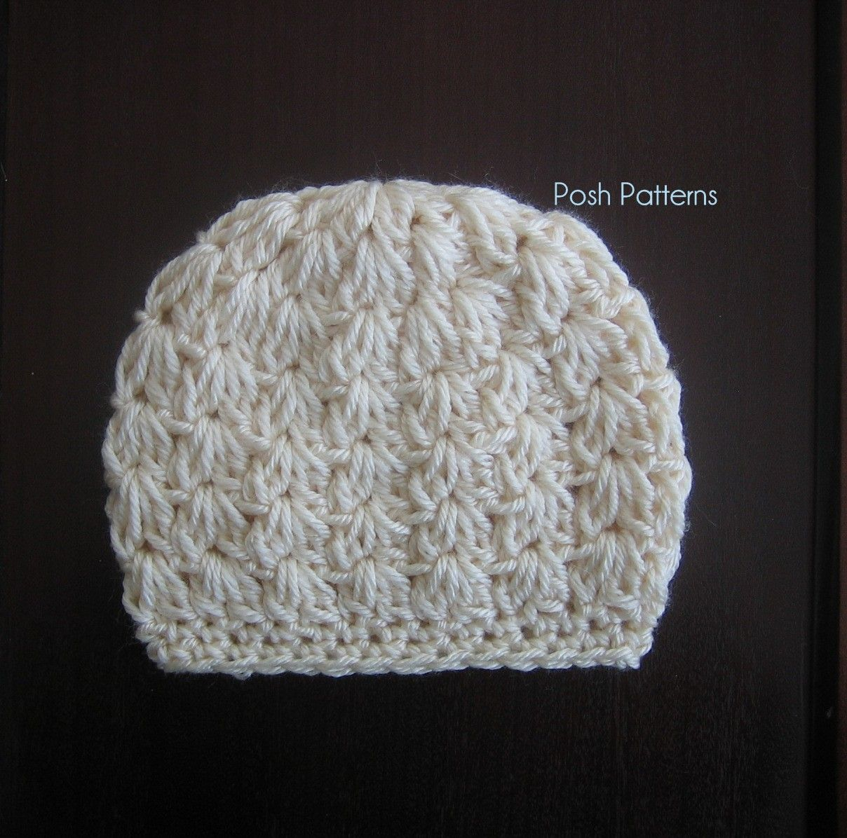 Free Crochet Patterns For A Baby Blanket : Crochet PATTERN - Cluster Shells Crochet Hat Pattern ...