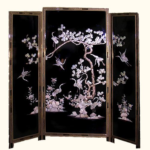 black and white bedrooms of pearl inlaid japanese floor screen it 14562