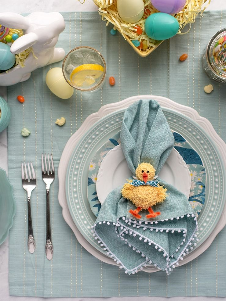Diy Easter Napkin Rings In 2020 Easter Napkins Easter Diy Easter Napkins Rings