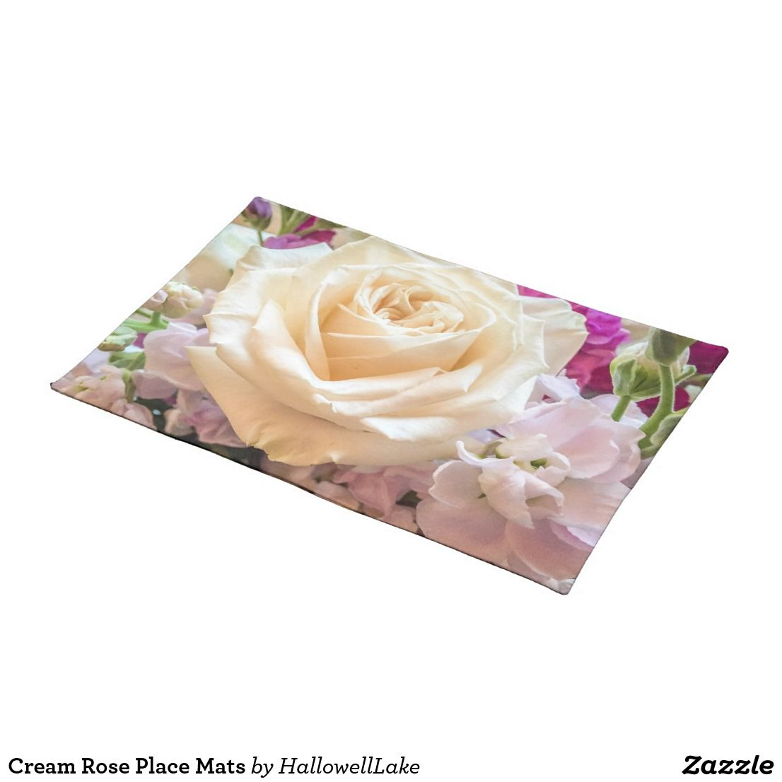 Cream Rose Place Mats Custom Placemats Placemats Placemat Design