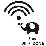 Interruptor do sinal wi-fi criativo etiqueta