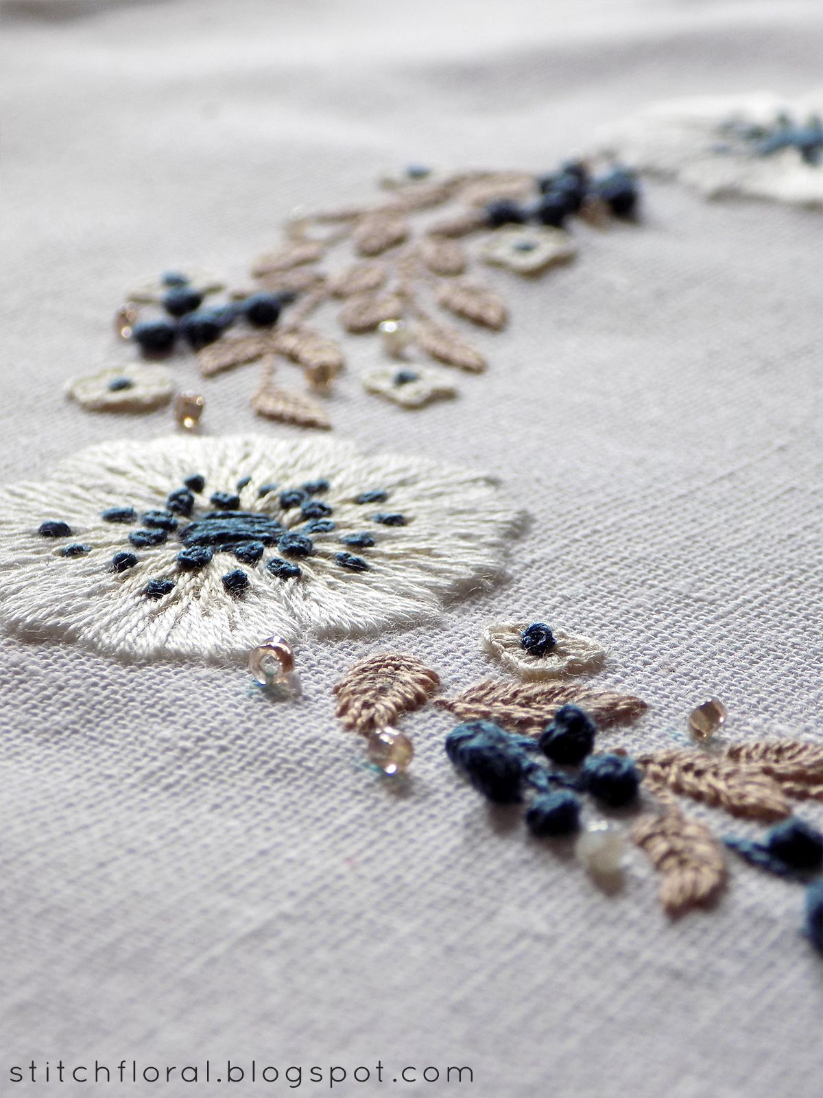 Embroidered anemones bordado pinterest hand embroidery