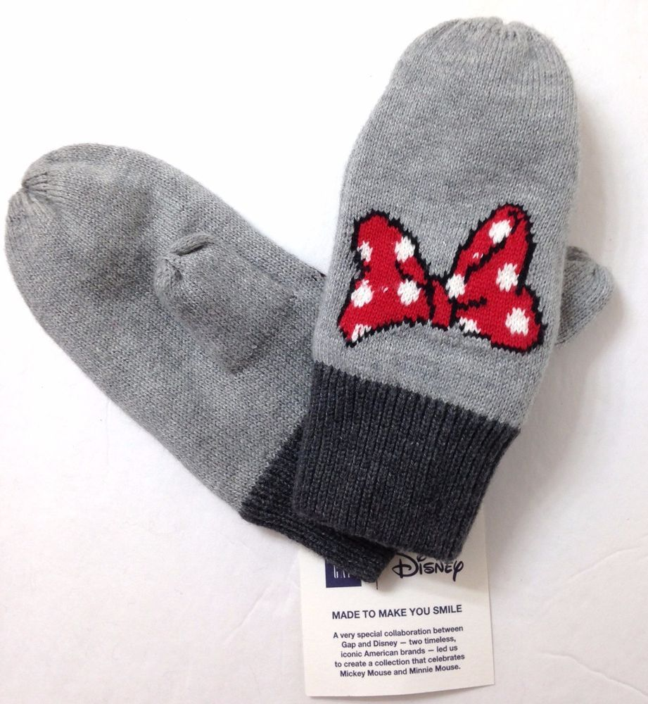 bb2d2720031 Baby Gap Girls M L (13cm   4T-5T) MINNIE MOUSE MITTENS Winter Knit Glove  Disney  Gap