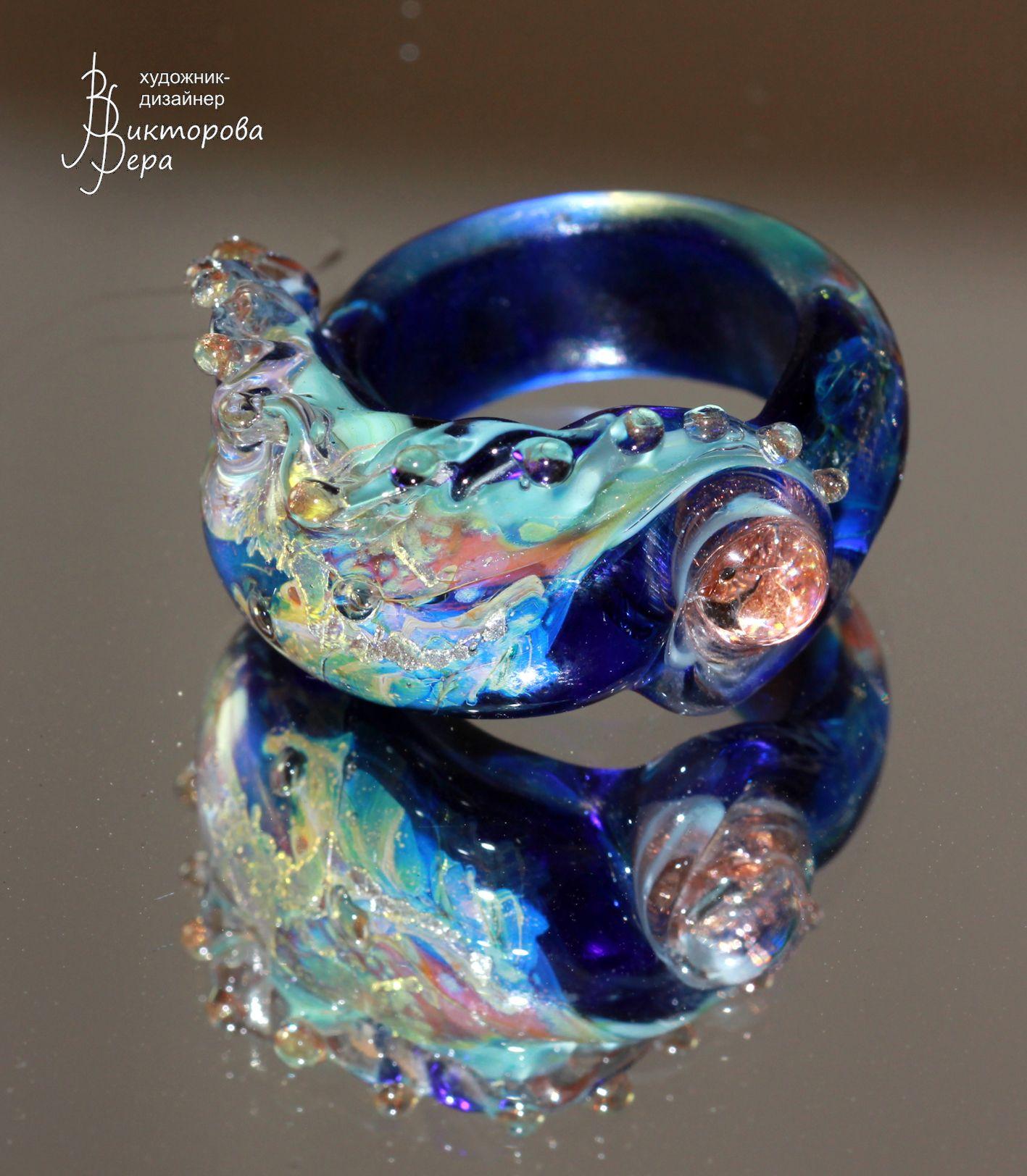 Океаническая волна. Стекло ручной работы от Веры Викторовой. Ocean wave. Handmade glass by Vera Viktorova