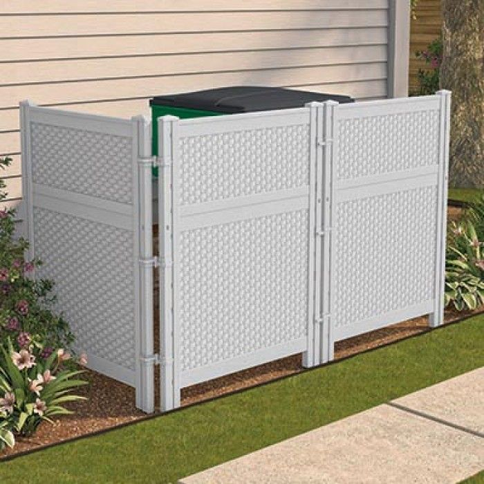 Outdoor Screen Enclosure For Trash Cans Z Hacienda In