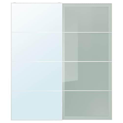 Sliding Auli En Of GlassFrosted Glass Doors Mirror Pair Sekken sdtQxhrC