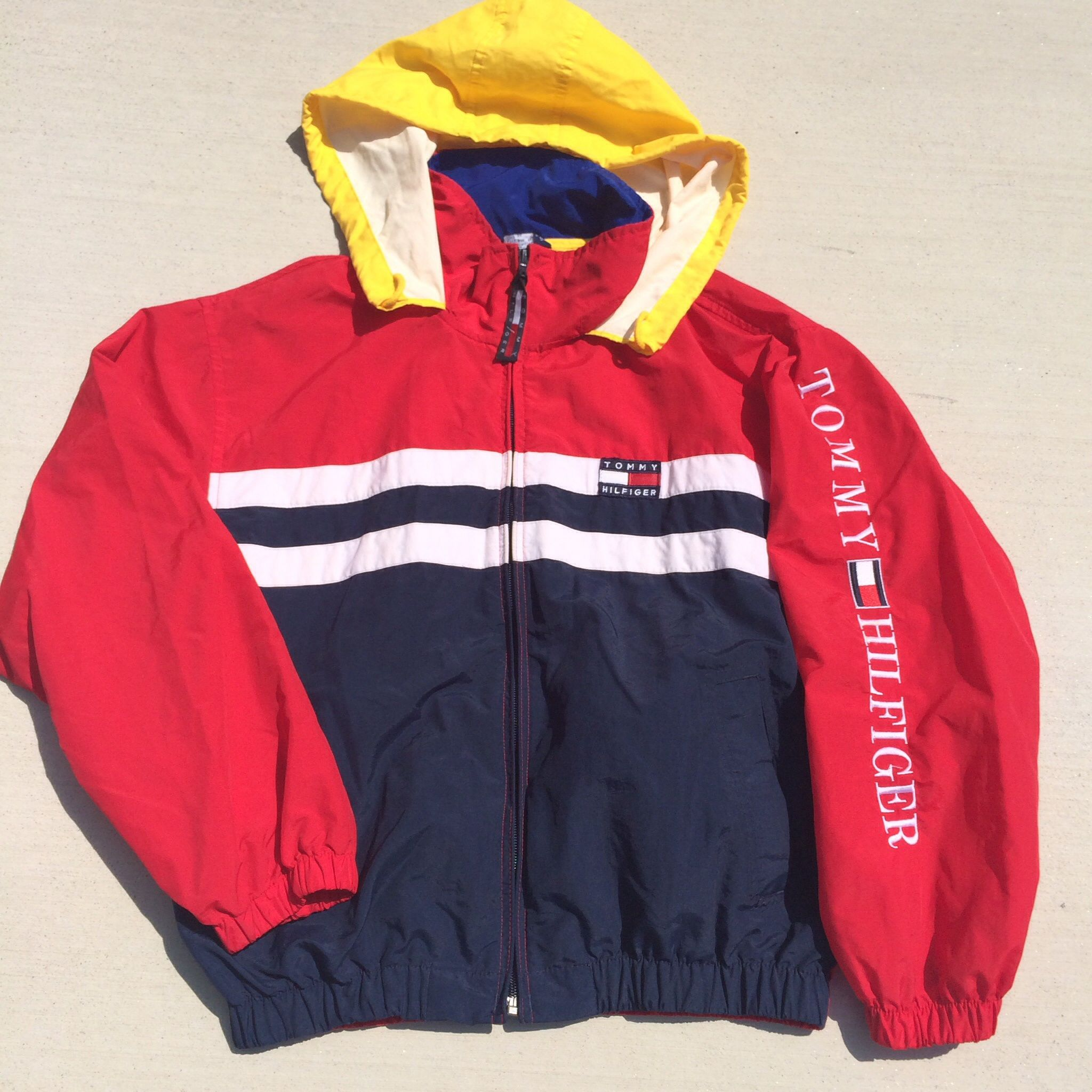 TOMMY HILFIGER Windbreaker jacket Blue Size XL k8ub8gp