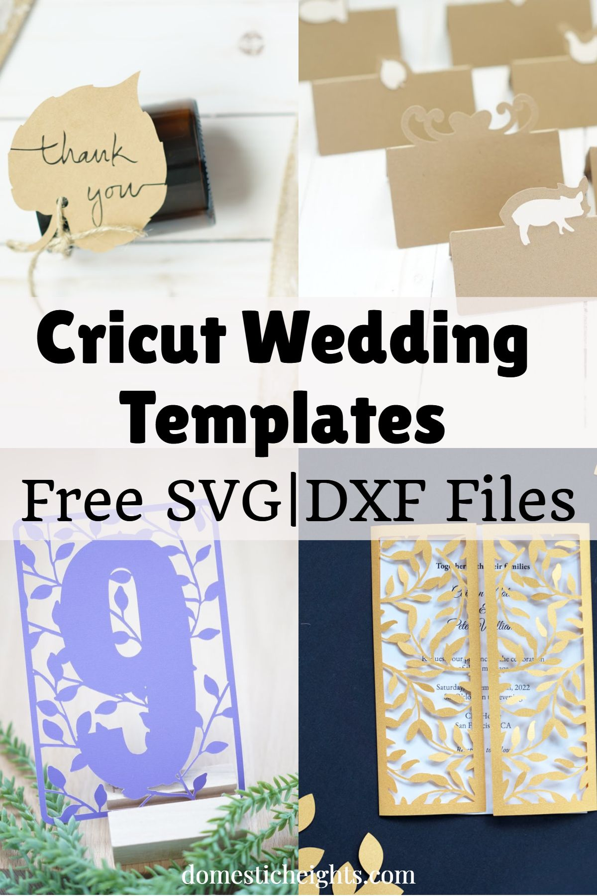 Cricut Wedding Ideas Domestic Heights Cricut Wedding Invitations Wedding Card Diy Cricut Invitations