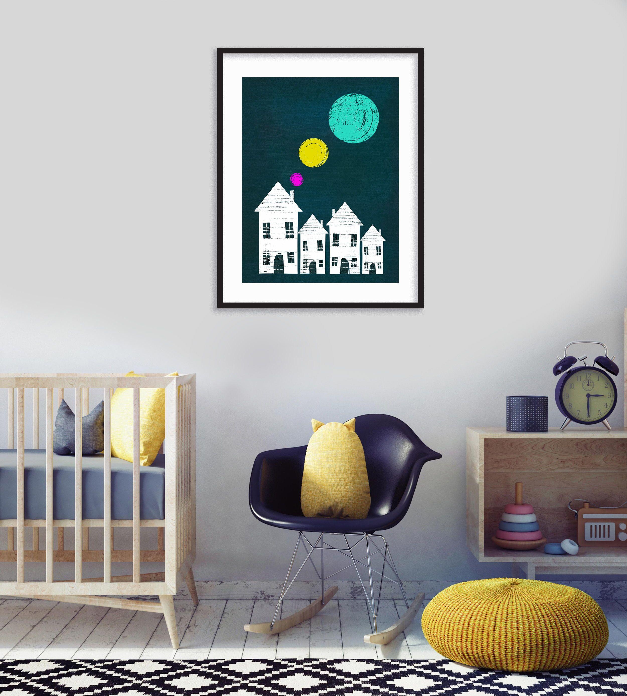 Cute Cityscape Decor Nursery Printable Printable Wall Art Etsy Baby Wall Art Nursery Printables Baby Boy Nurseries