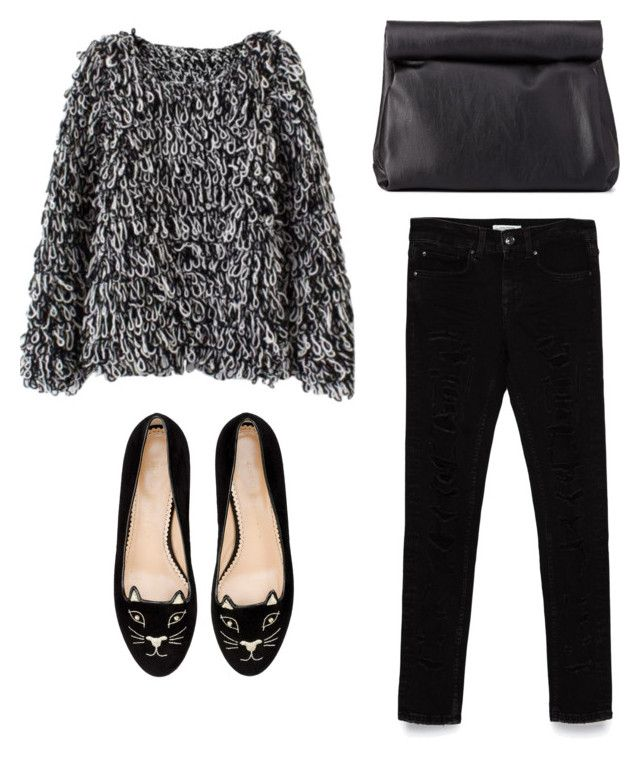"""""""Untitled #2"""" by annadalipaj on Polyvore featuring Zara, Charlotte Olympia and Charlotte Russe"""