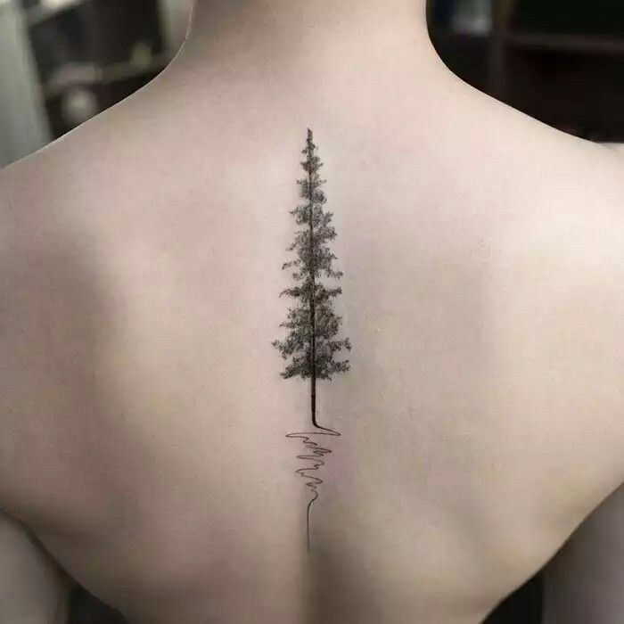 Tree tatoo on the spine