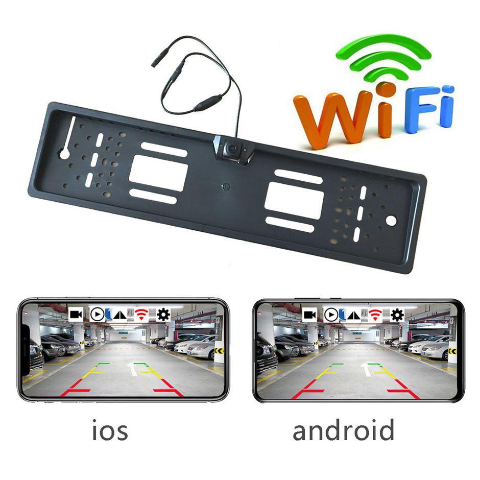 Wholesale Europe Car Licence Plate Parking Sensors Car Auto Vehicle Eu Rear Wifi Camera Pz421 A In 2020 Rear View Camera Europe Car Rear Backup Camera