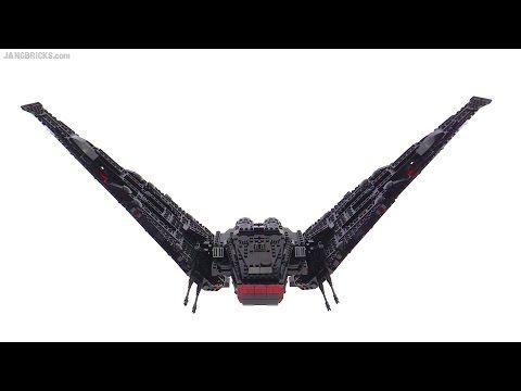 Improved Lego Kylo Ren S Shuttle Star Wars Tfa Movie Version Mod Youtube Lego Kylo Ren Lego Kylo Ren Shuttle Lego