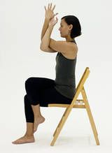 10 Yoga Poses You Can Do In A Chair Chair Pose Yoga Yoga Poses Chair Yoga
