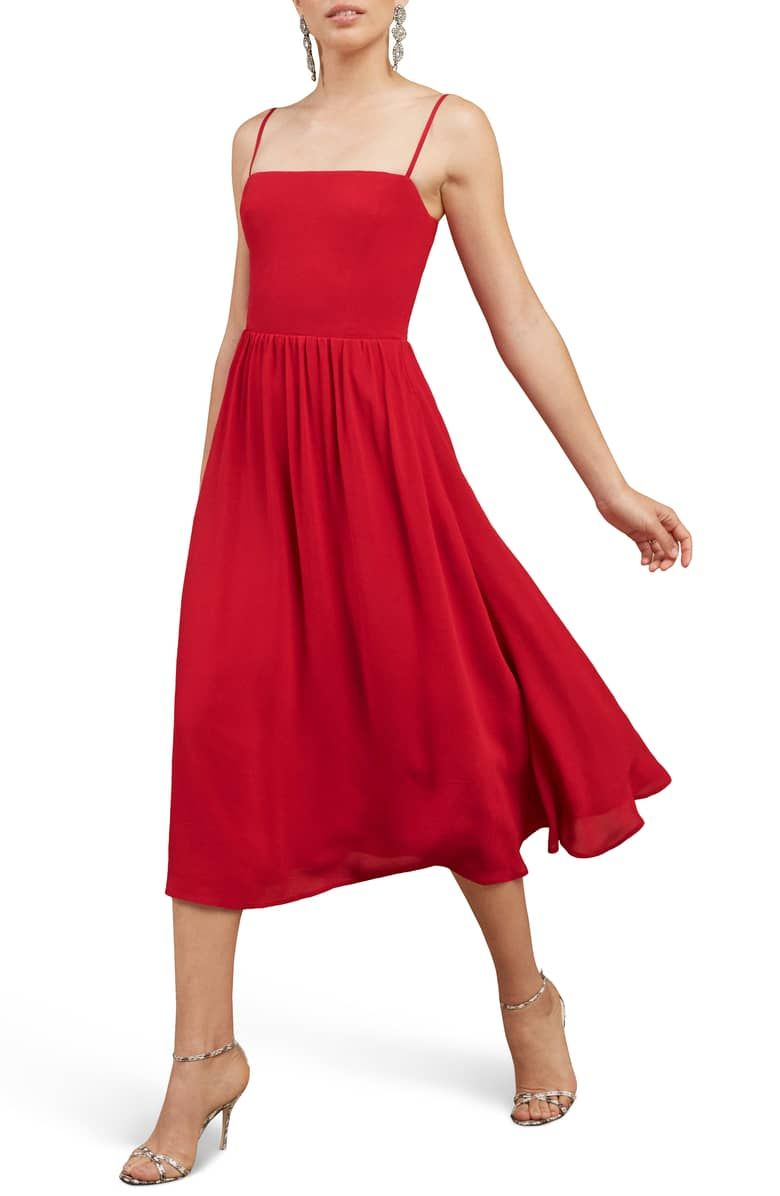 Reformation Rosehip Fit Amp Flare Dress Fit Flare Dress