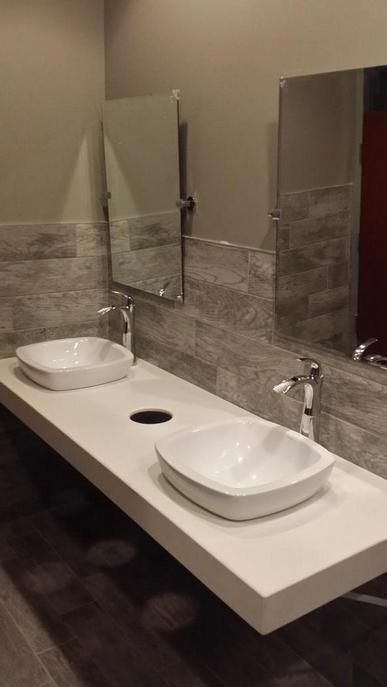 Zenith Bathroom Mirror dekton zenith commercial bathroom benchtop | commercial design