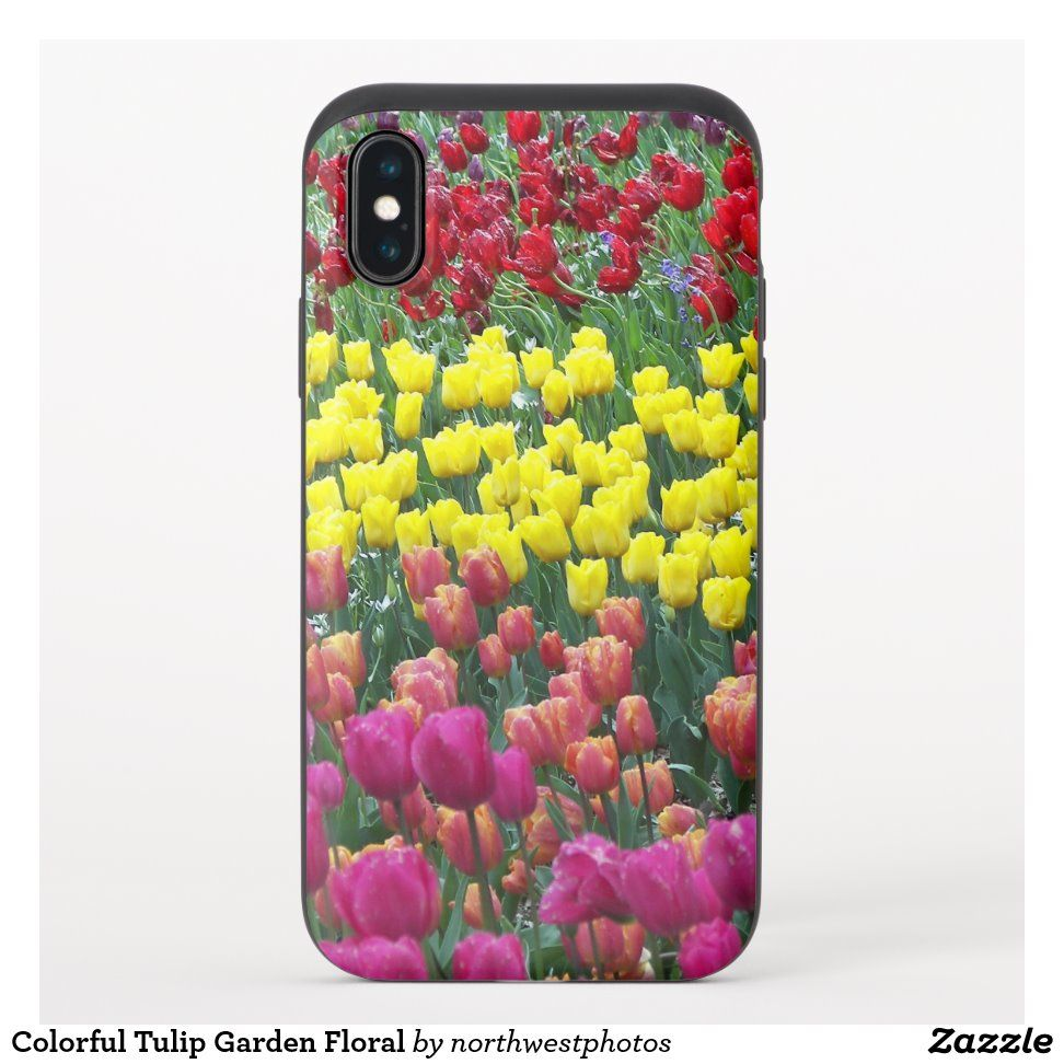 Colorful Tulip Garden Floral Photo Uncommon Iphone Case Zazzle