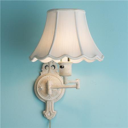 Shabby French Chic Swing Arm Wall Lamp Shades Of Light Swing Arm Wall Lamps Wall Lamp Shades Small Lamp Shades