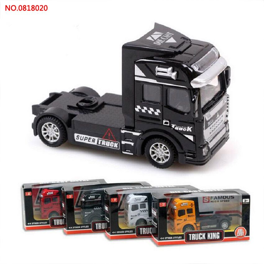 4 pcs/set New Arrival alloy engineering truck model NO.0818020 Pull ...