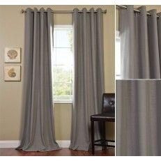 grey curtains w gold curtain pole home shortlist grey. Black Bedroom Furniture Sets. Home Design Ideas