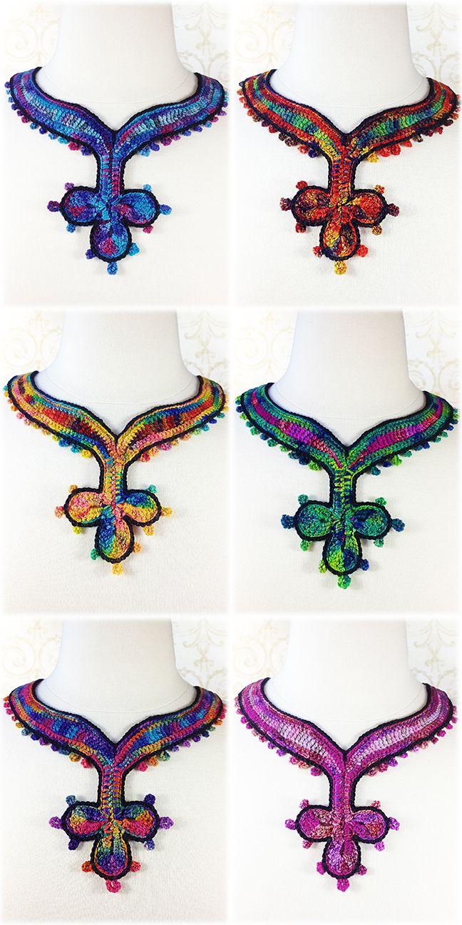 Rosita Necklace Crochet Pattern - $3.50 | collares croche ...