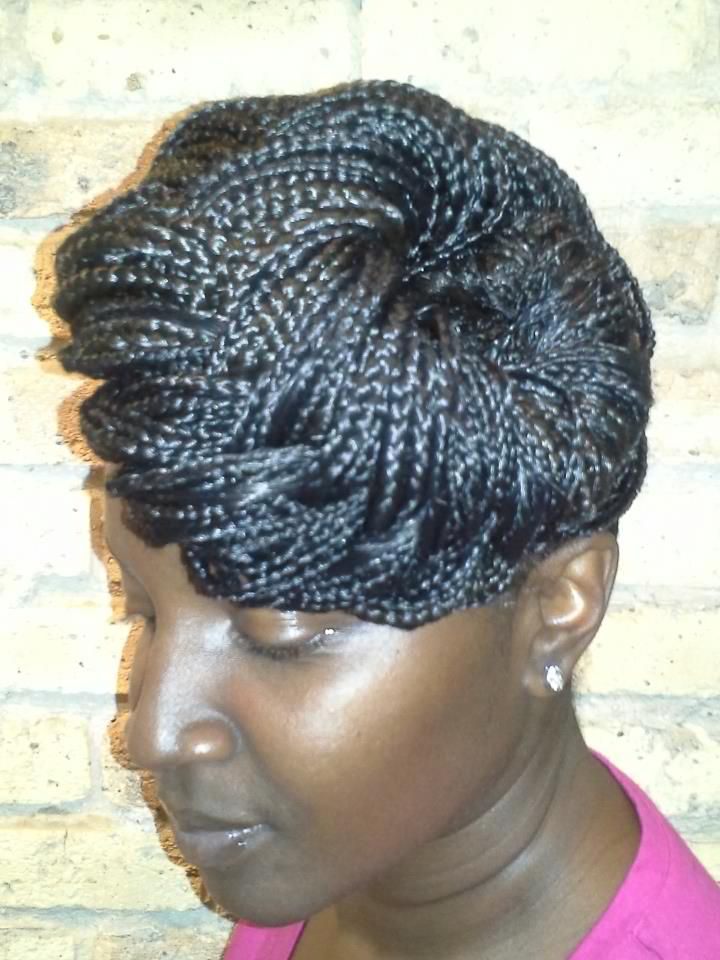 Individual Box Braids Styled In Updo By Shavon Akhan Glo On
