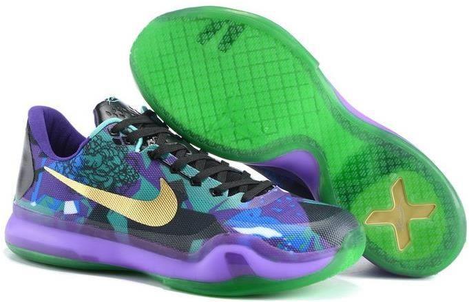 Nike Kobe 10 EM XDR Purple Gold Blue